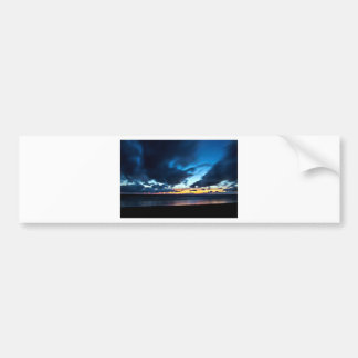 Nocturnal Cloud Spectacle on Danish Sky Bumper Sticker