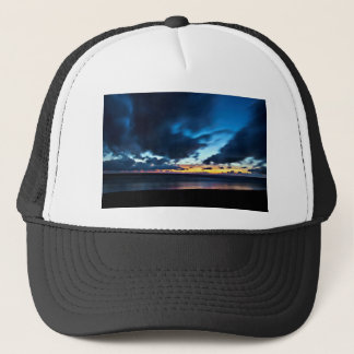 Nocturnal Cloud Spectacle on Danish Sky Trucker Hat