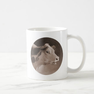 Nocturnal Cow Classic White Coffee Mug