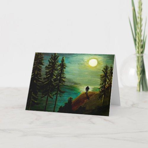 Nocturnal Creature _ Bigfoot Sasquatch Art Card