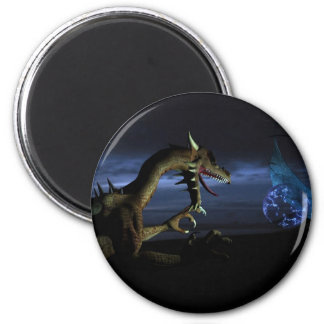 Nocturnal fight 2 inch round magnet