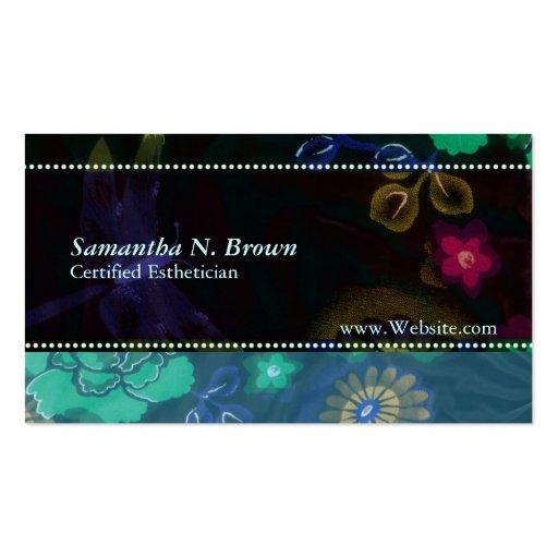 Nocturnal flora custom esthetician business card zazzle for Esthetician business card