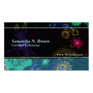 Nocturnal Flora: Custom Esthetician Business Card