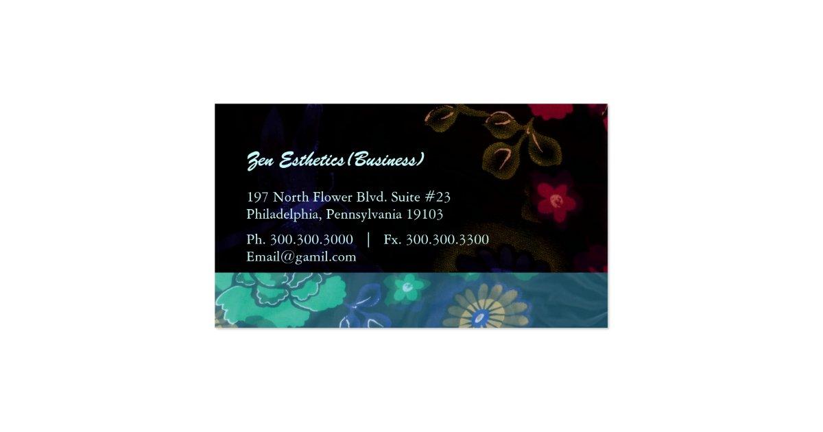 Nocturnal Flora Modern Esthetician Business Cards