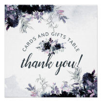 Nocturnal Floral Cards & Gifts Wedding Table Sign