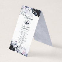 Nocturnal Floral Elegant Wedding Ceremony Program