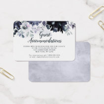 Nocturnal Floral Guest Accommodations Insert Card