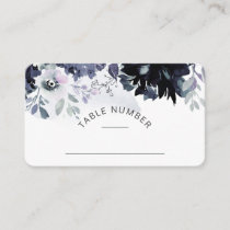 Nocturnal Floral Seating Wedding Table Number Place Card