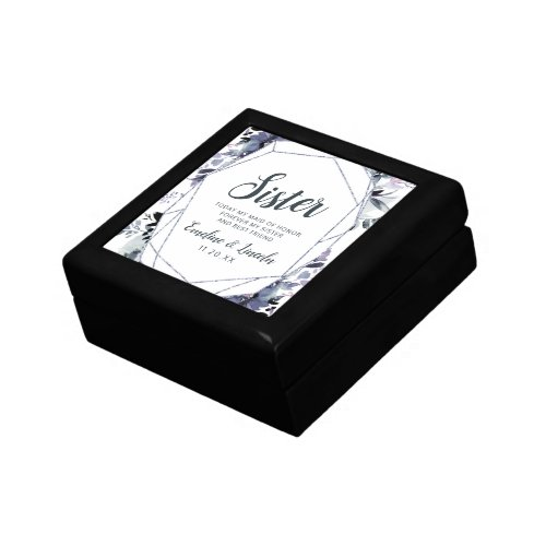 Nocturnal Floral Sister Maid of Honor Personalized Gift Box