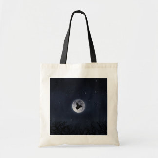 Nocturnal Flying Pig Across The Full Moon Tote Bag