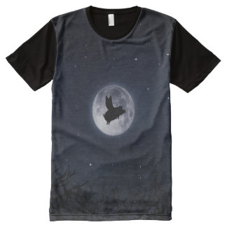 nocturnal flying pig All-Over-Print shirt