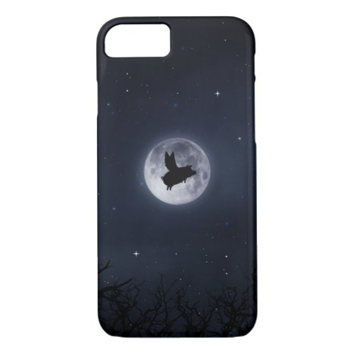 nocturnal flying pig iPhone Case