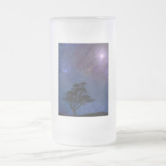 Nocturnal Frosted Glass Beer Mug