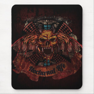 Nocturnal Life Skull Mouse Pad