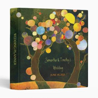 Nocturnal Love Trees Wedding Planner Binder