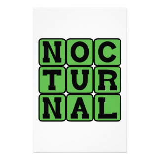 Nocturnal, Night Hunter Stationery Paper
