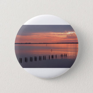 Nocturnal Paddle Boarder Departs Pinback Button