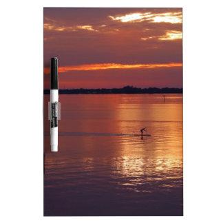 Nocturnal Paddle Boarder Returns Dry-Erase Board