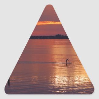 Nocturnal Paddle Boarder Returns Triangle Sticker