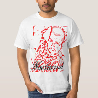 Nocturnal red and white shirt