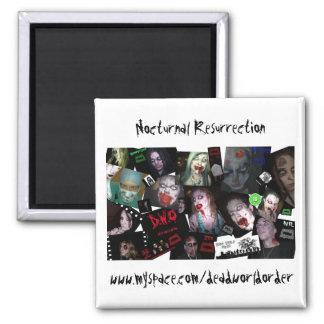 Nocturnal Resurection - Noc Rez Montage 2 Inch Square Magnet