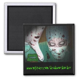 Nocturnal Resurrection - Dr. Butcher 2 Inch Square Magnet