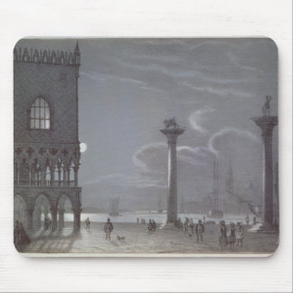Nocturnal Scene of Palazzo Ducale and the Two Colu Mouse Pad