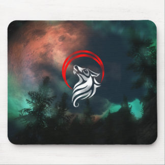 Nocturnal Wolf Pad Mouse Pad