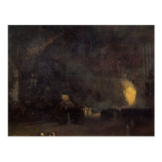 Nocturne, Black and Gold, The Fire Wheel -Whistler Post Cards