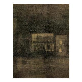 Nocturne Black and Gold - The Rag Shop, Chelsea Postcard