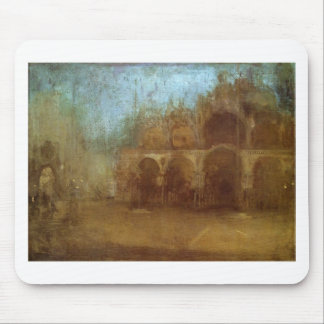 Nocturne: Blue and Gold - St Mark's, Venice Mouse Pad