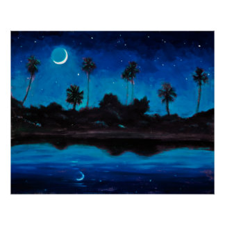 Nocturne de la costa de la selva póster
