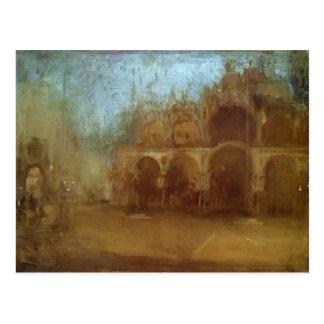 Nocturne de la marmota de James: St Mark, Venecia Tarjetas Postales