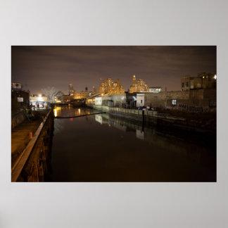 Nocturne del canal de Gowanus Poster
