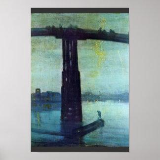 Nocturne en azul y oro: Puente viejo de Battersea  Póster