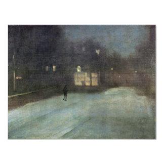 Nocturne en gris y nieve del oro en Chelsea por Invitación 10,8 X 13,9 Cm