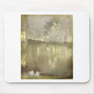 Nocturne Grey and Gold - Canal by James McNeill Mouse Pad