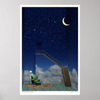 Nocturne iluminado por la luna póster