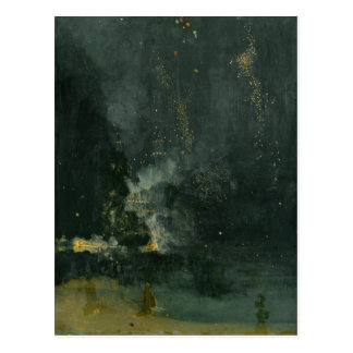 Nocturne in Black and Gold, the Falling Rocket Postcard
