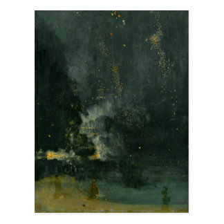 Nocturne in Black and Gold – The Falling Rocket Postcard