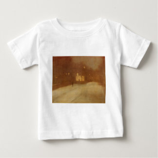 Nocturne in Gray and Gold snow in Chelsea by James Baby T-Shirt