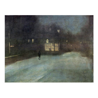 Nocturne In Gray And Gold Snow In Chelsea By Whist Postcards