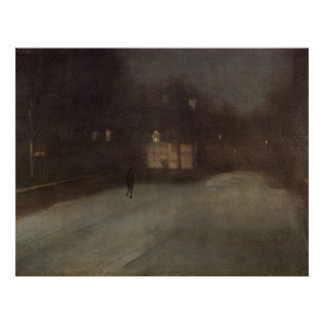 Nocturne in grey and gold by Whistler Print