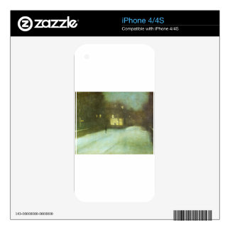 Nocturne in Grey and Gold: Chelsea Snow by James Decal For The iPhone 4S