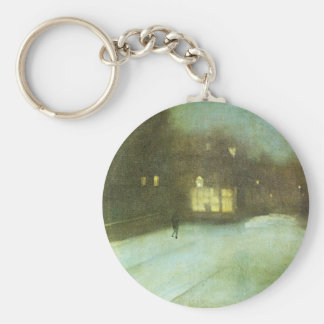 Nocturne in Grey and Gold: Chelsea Snow by James Keychain