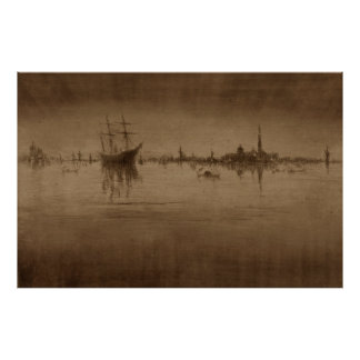 Nocturne ship night James McNeill Whistler Poster