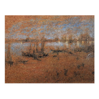 Nocturne, The Riva by Whistler Postcard