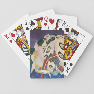 NOCTURNE WITH MASKS / Art Deco Venetian Masquerade Playing Cards