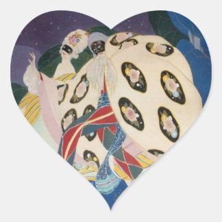 NOCTURNE WITH MASKS / Venetian Masquerade Heart Heart Sticker