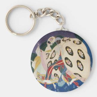 NOCTURNE WITH MASKS / Venetian Masquerade Keychain